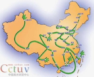 中国地图中暗含十大风水 天机